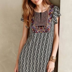 Anthropologie Maeve Aleteo Embroidered Dress